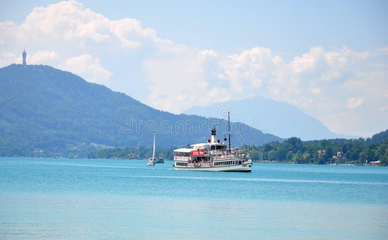 Jeziorny Woerthersee w Carinthia, Austria zdjęcia royalty free