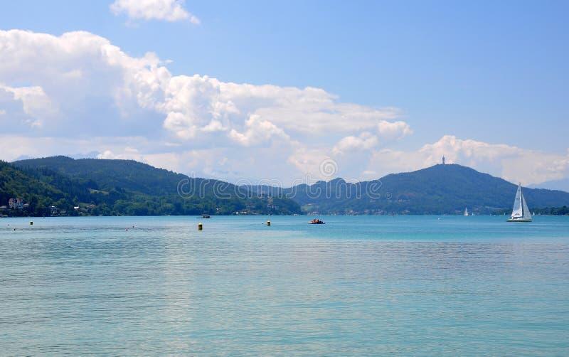 Jeziorny Woerthersee w Carinthia, Austria obrazy stock