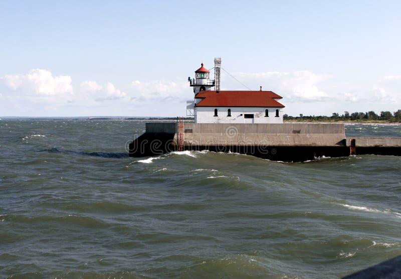 Jeziorny Wyższy lekki dom zdjęcie stock