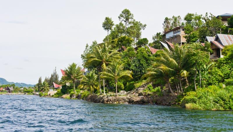 jeziorny wyspy samosir Sumatra Toba fotografia royalty free