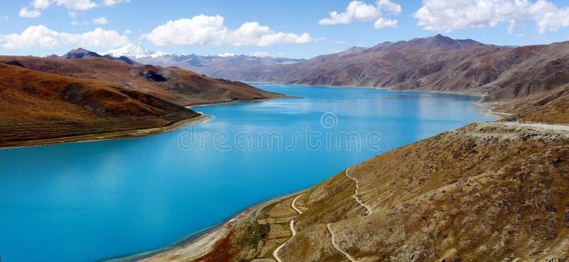 Jeziorny Yamdrok obrazy stock
