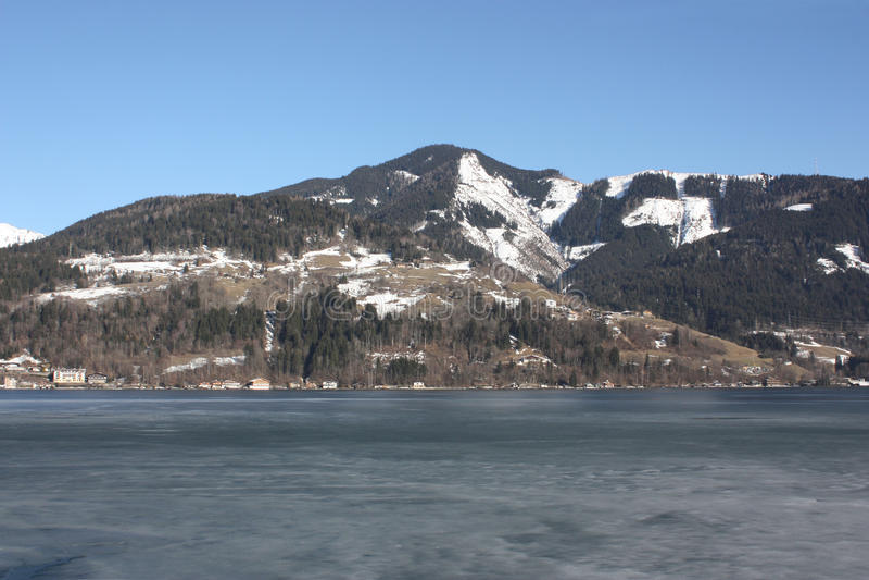 Jeziorny Zell, Zell am Widzii, Północny Tirol, Austria, zdjęcie royalty free
