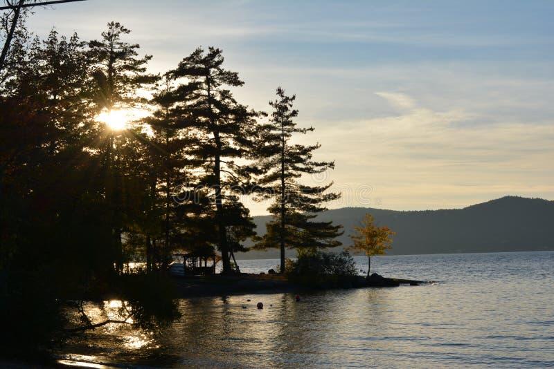 Jeziorny zmierzchu spadek 2 fotografia royalty free