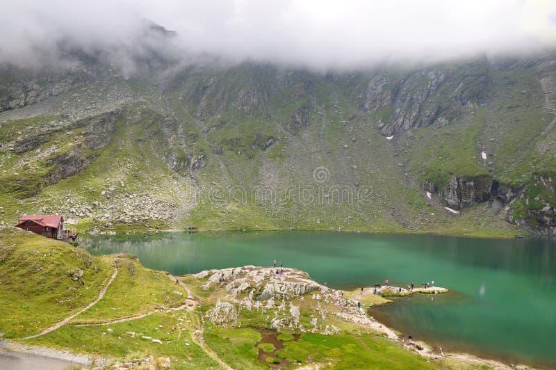 jezioro balea górski Romania zdjęcie stock