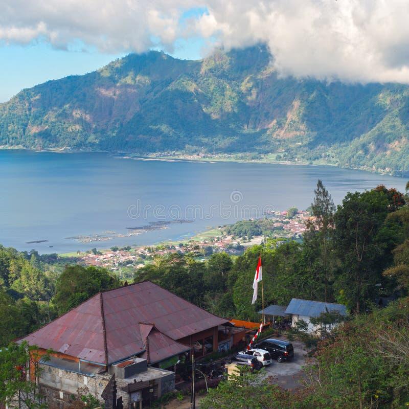 JEZIORO BATUR BALI, SIERPIEŃ, - 6 rybi gospodarstwo rolne na Jeziornym Batur obrazy royalty free