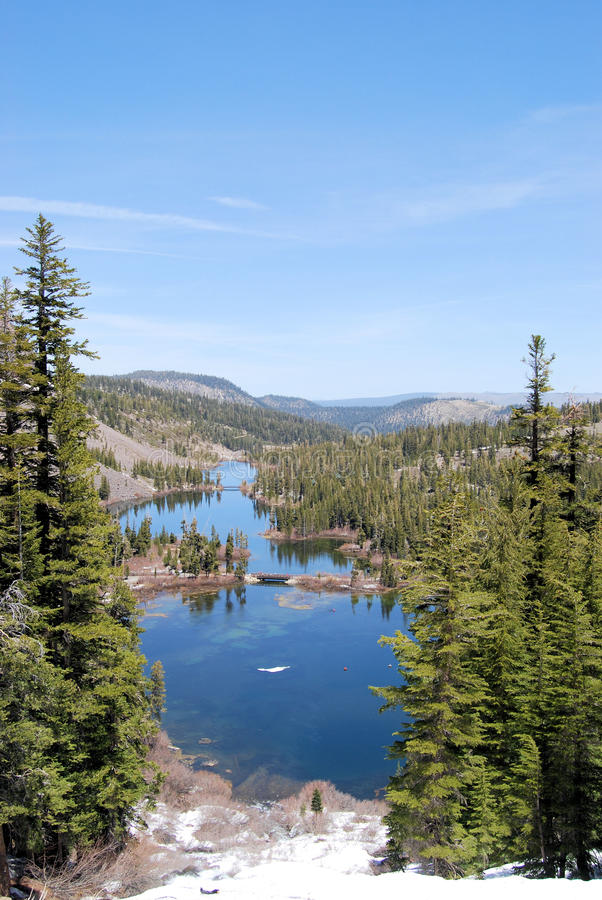 jezioro bliźniak fotografia royalty free