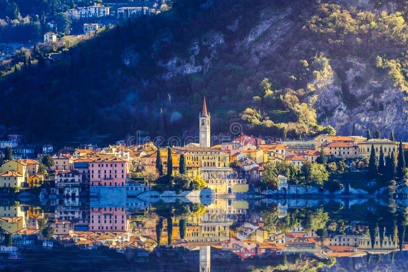 jezioro como Włochy obraz royalty free