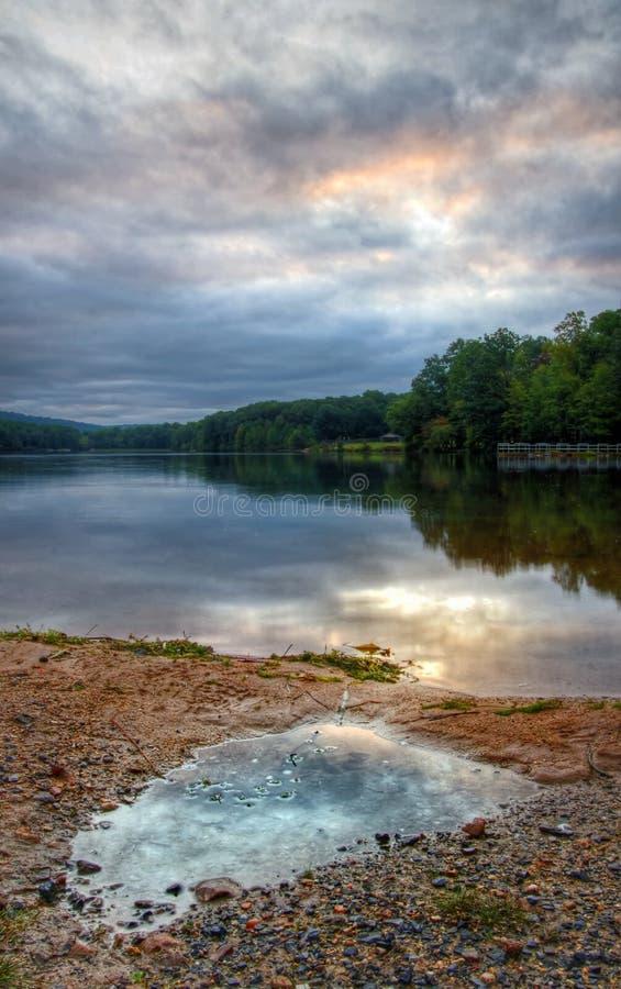 jezioro deszcz obraz stock
