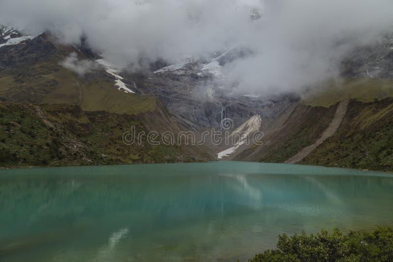 Jezioro Humantay w Peru na górze Salcantay w Andach fotografia royalty free