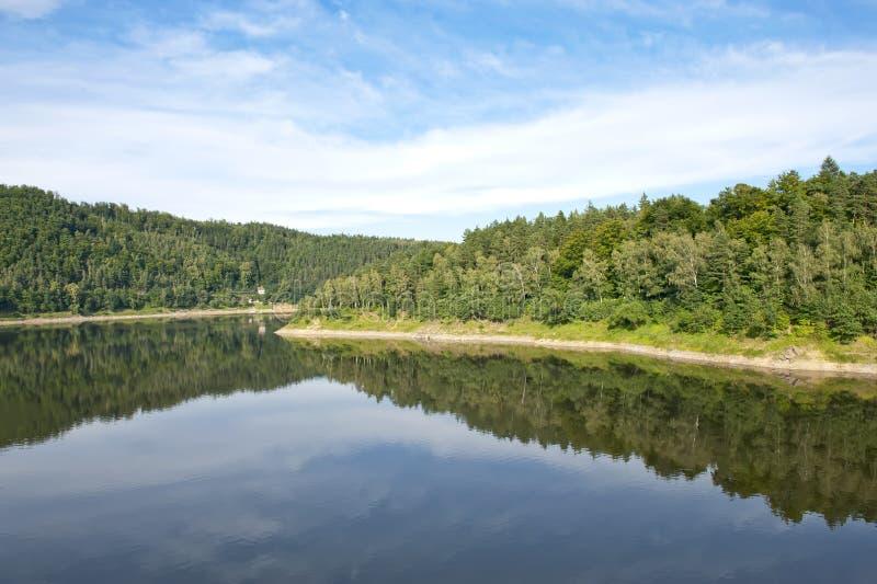 Jezioro i las zdjęcie stock