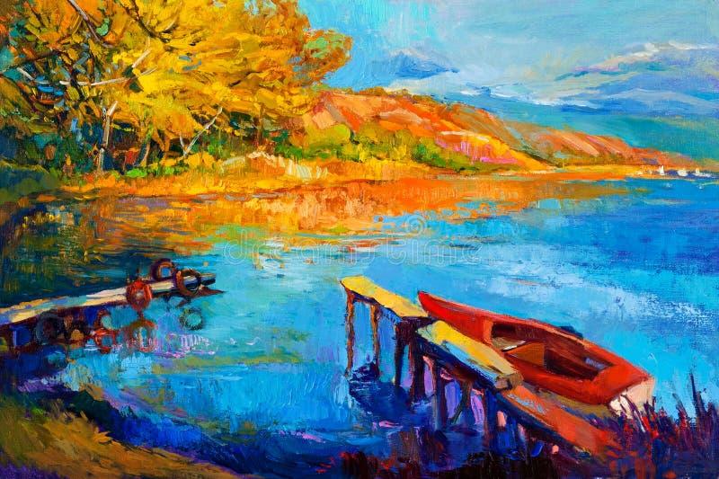 Jezioro i las royalty ilustracja