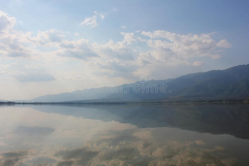 Jezioro Kerkini Serres Grecja zdjęcie royalty free