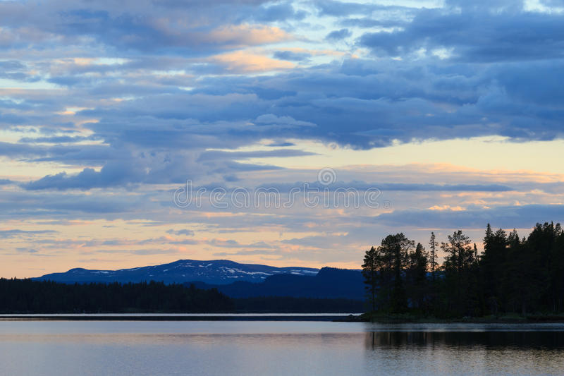 jezioro Laponii zdjęcia royalty free