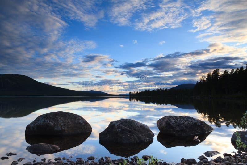 jezioro Laponii obraz stock