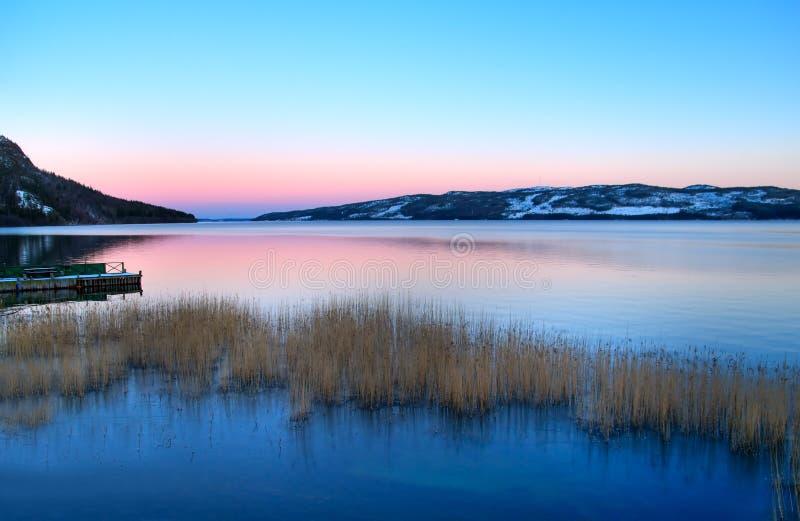 jezioro Laponii zdjęcia stock