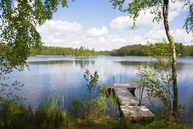 jezioro lato fotografia stock