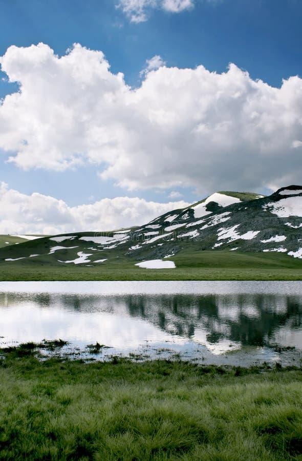 jezioro lodowatego Macedonii fotografia royalty free