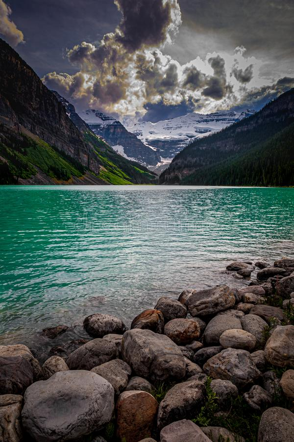 Jezioro Louise, Alberta, Kanada obrazy royalty free