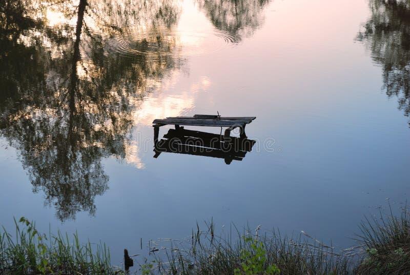 Jezioro lustrze odbicie