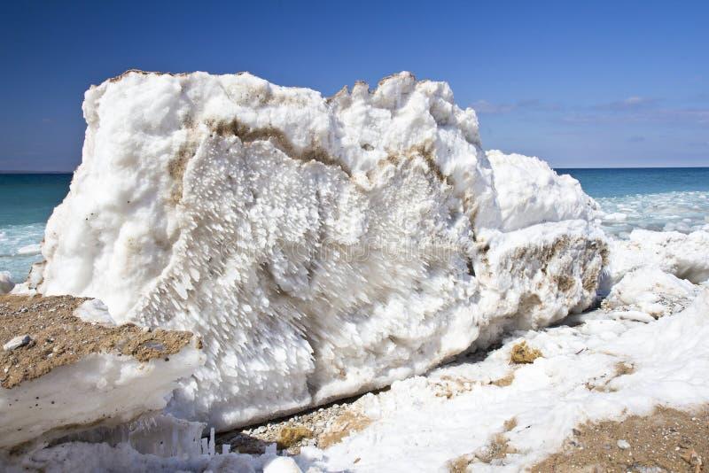 Jezioro Michigan Iceburg fotografia royalty free