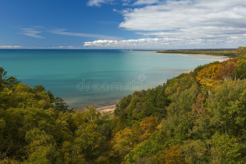 Jezioro Michigan Jesień zdjęcia royalty free