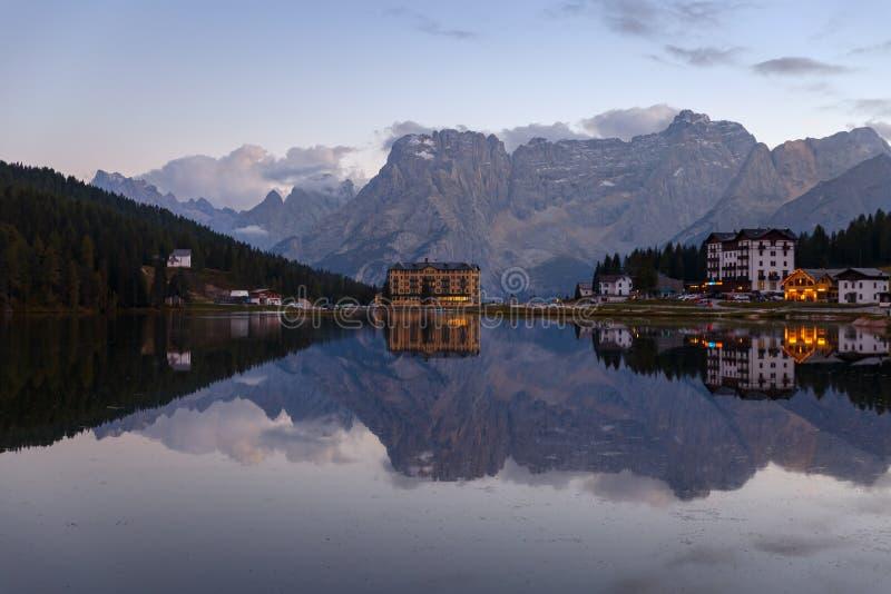 Jezioro Misurina fotografia stock