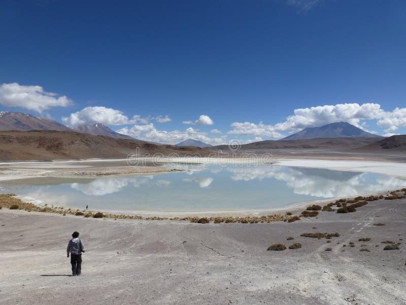 Jezioro na niebie obraz stock