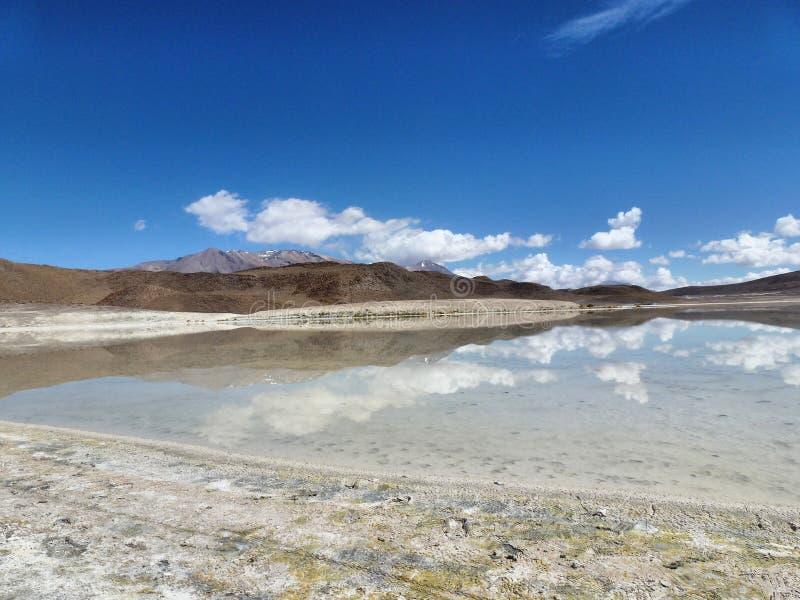 Jezioro na niebie obrazy royalty free