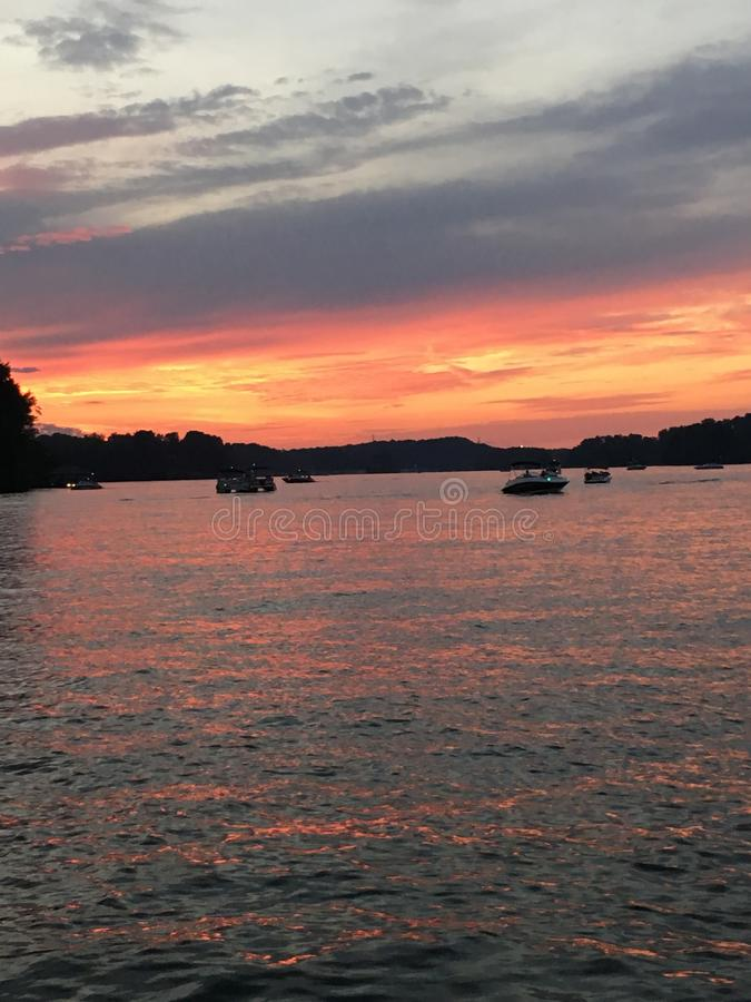 Jezioro na ogieniu obraz royalty free
