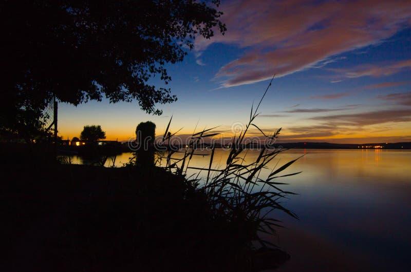 Jezioro nocne obraz stock