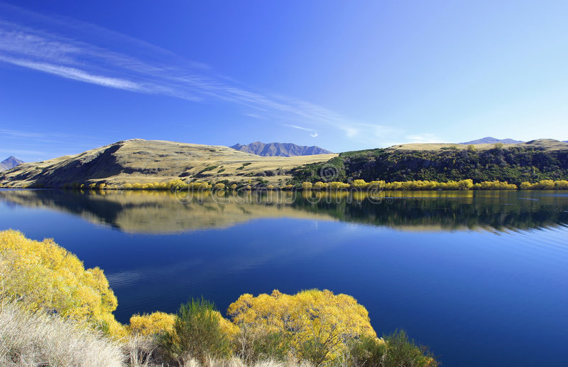 jezioro nowej Zelandii hayes obrazy royalty free