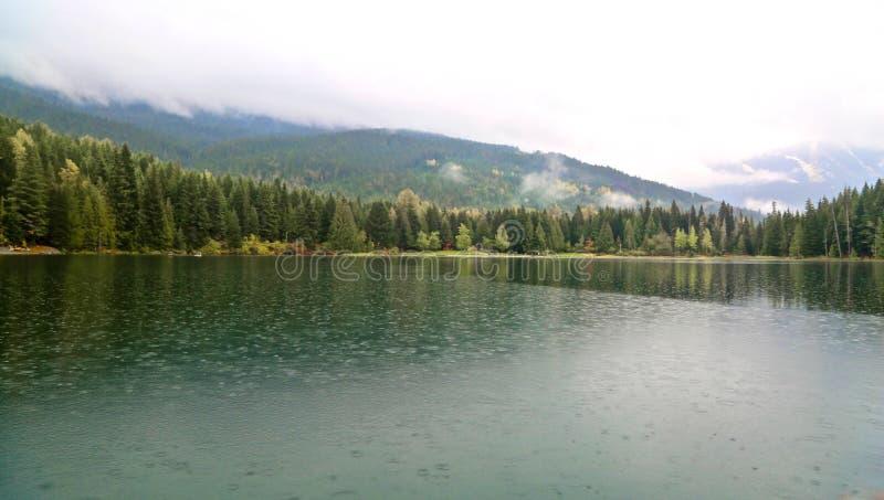 Jezioro Podeszczowy Kanada zdjęcie royalty free