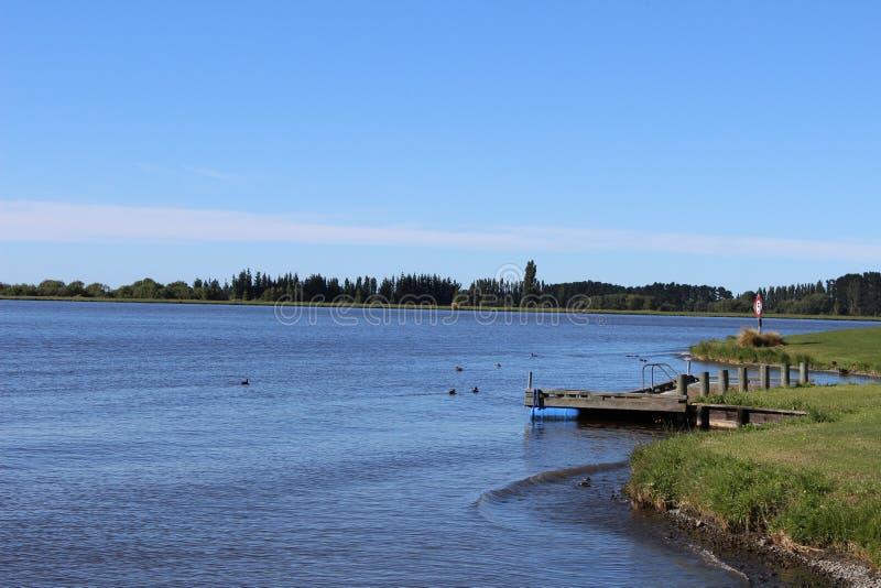 Jezioro przód zdjęcie stock