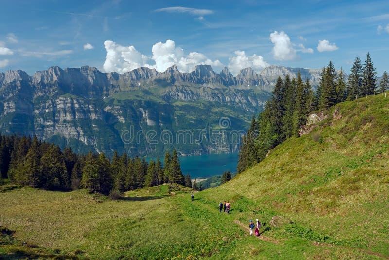jezioro przeglądać walensee fotografia stock