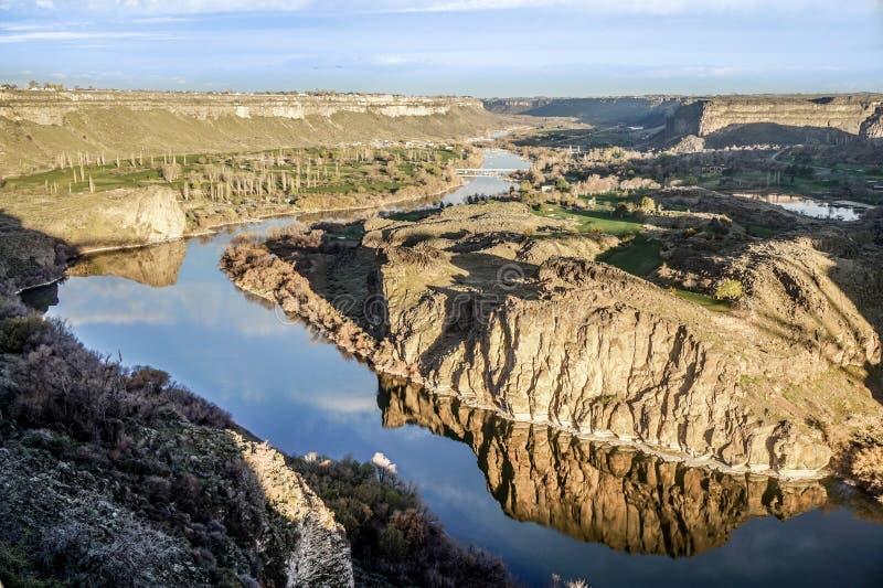 Jezioro przy Idaho spadkami obraz stock