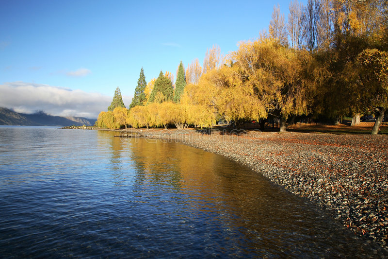 jezioro Queenstown widok fotografia royalty free