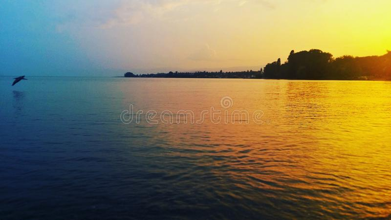 Jezioro strona obrazy royalty free