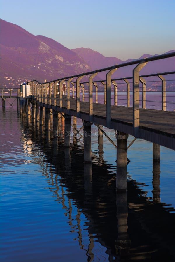 Jezioro strona w Iseo obrazy royalty free