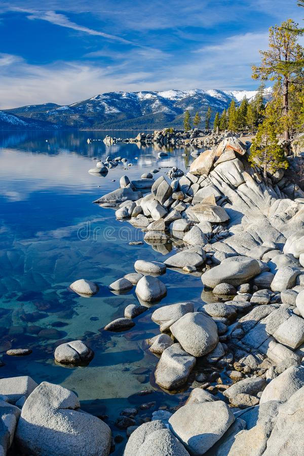 jezioro tahoe kalifornii zdjęcie stock