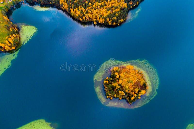 Jezioro trutnia powietrzna fotografia zdjęcia stock