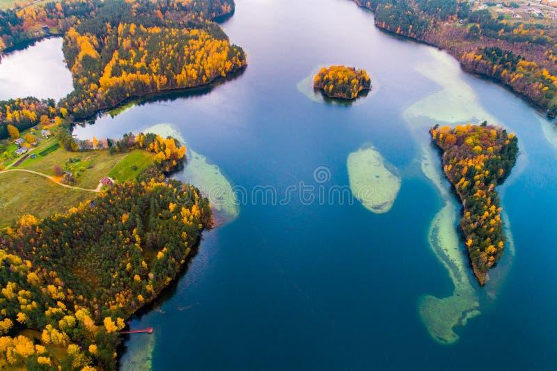 Jezioro trutnia powietrzna fotografia obrazy stock