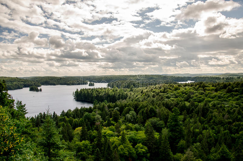 Jezioro w Algonquin parku, Ontario, Kanada obrazy stock