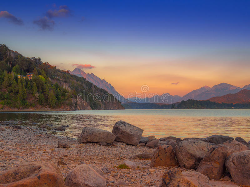 Jezioro w Bariloche fotografia royalty free