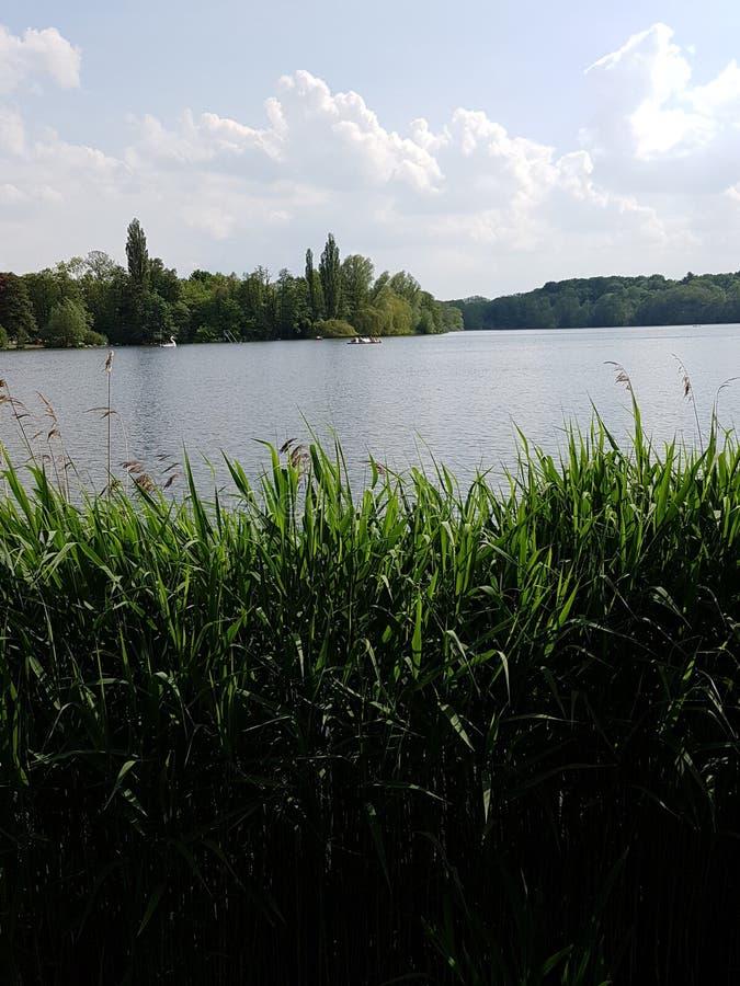 Jezioro w Hamburg zdjęcie stock