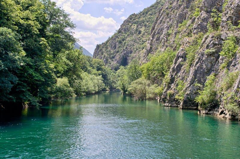 Jezioro w jarze Matka, Macedonia fotografia stock