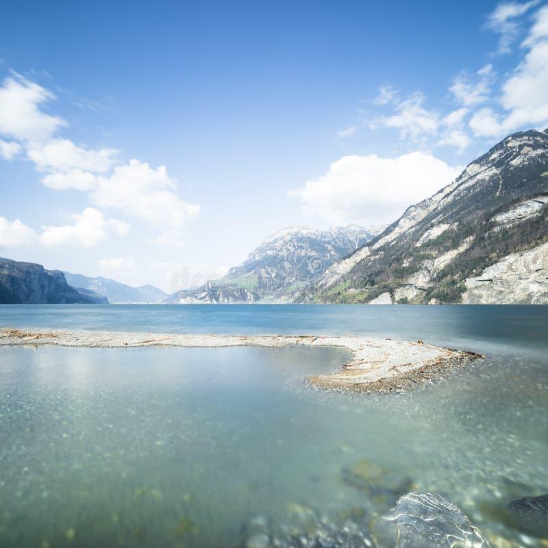 Jezioro w kantonie Uri Szwajcaria zdjęcie royalty free