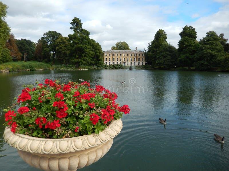 Jezioro w Kew ogródach, Londyn, UK obraz royalty free
