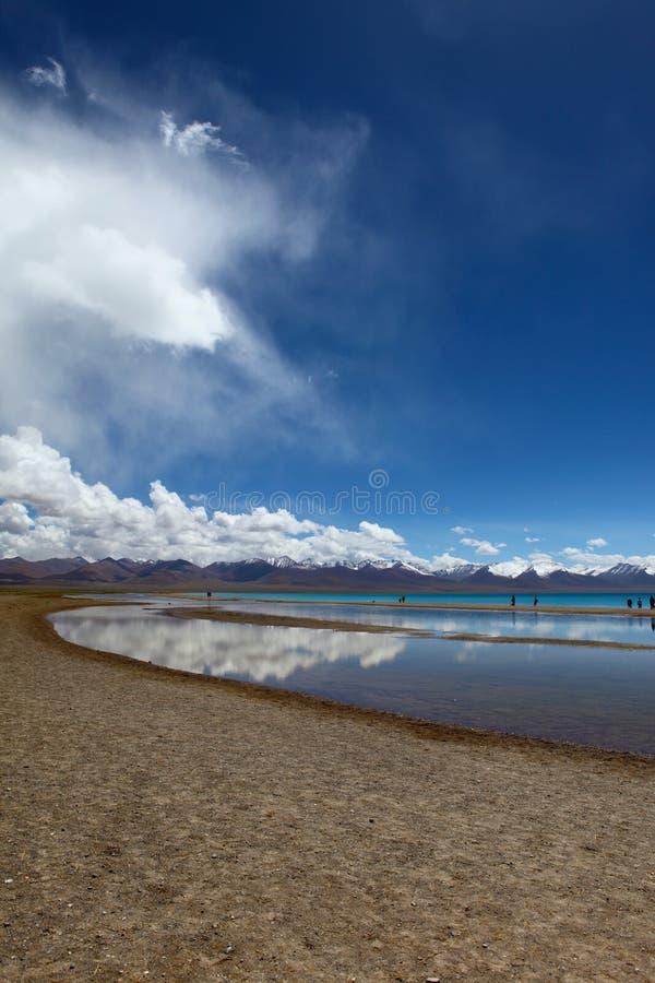 Jezioro w Nam Co, Tybet fotografia royalty free
