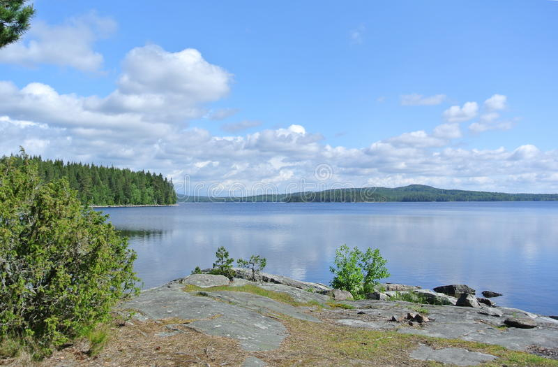 Jezioro w park narodowy obrazy stock