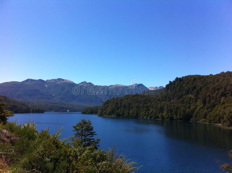 Jezioro w Patagonia Argentyna fotografia stock